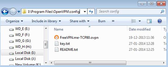VPN config file