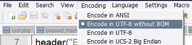 notepad encoding type