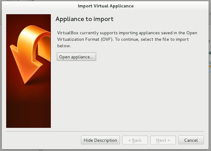 Importing the Virtual Appliance