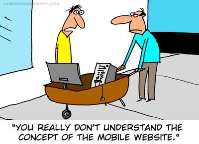 mobile website comic