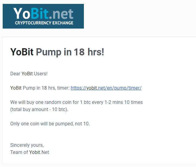 yobit pump